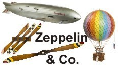Zeppelin Mobile Ballon und Propeller